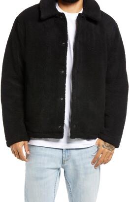Topman Shetland Coach Borg Fleece Jacket