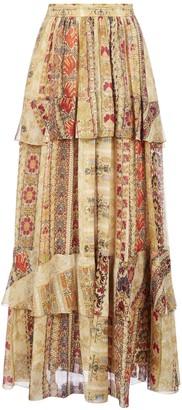 Etro Ruffles Maxi Skirt