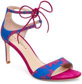 Via Spiga Lapis & Fuchsia Skylar Lace-Up High Heel Sandals