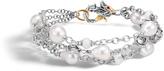John Hardy Naga Triple Row Bracelet with Pearl, White Moonstone