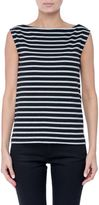 Saint Laurent Breton-stripe Sleeveless T-shirt