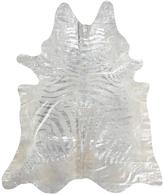 Nourison Mina Victory Couture Handmade Metallic Zebra Rug