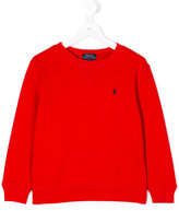 Ralph Lauren logo sweatshirt - kids - Cotton/Polyester - 2 yrs