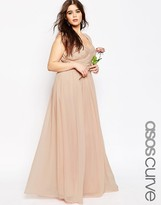 Asos WEDDING Maxi Dress With Ruched Panel