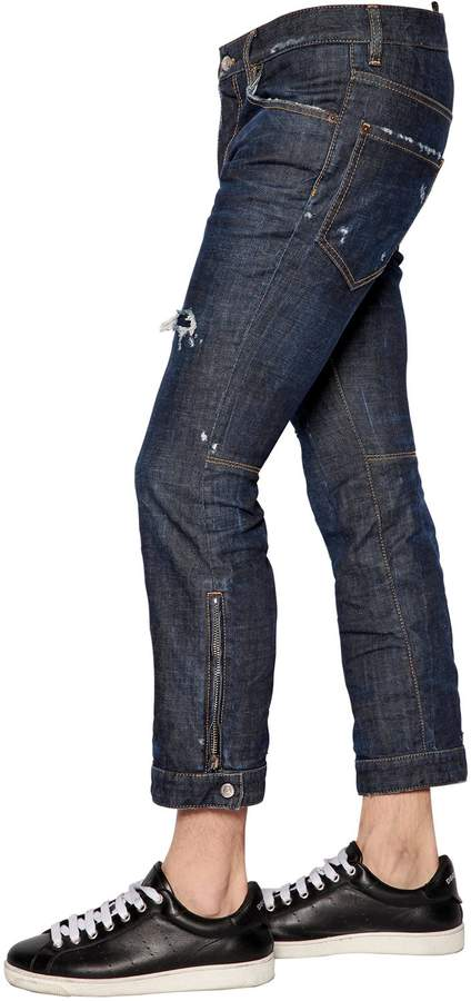 DSQUARED2 18.5cm Biker Ski Stretch Denim Jeans