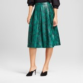 Who What Wear Women's Birdcage Skirt Green