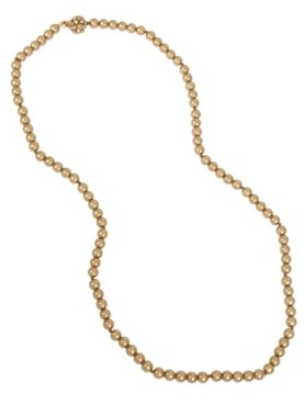 Miriam Haskell 8 mm Pearl Strand Long Necklace