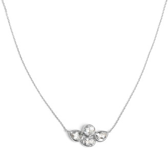 Anzie Sterling Silver Whit Topaz Bouquet Pendant Necklace