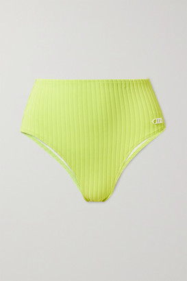 Solid & Striped The Beverly Ribbed Bikini Briefs - Chartreuse