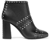 Lanvin Ruby Studded Textured-leather Ankle Boots - Black