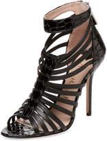 Aperlaï Women's Textured Leather Sandal