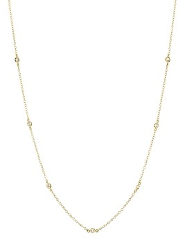 Aqua Sterling Silver Thin Chain Necklace, 16 - 100% Exclusive