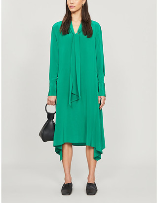 Joseph Alisson asymmetric silk-crepe midi dress