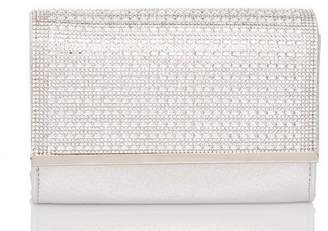 Quiz Silver Shimmer Diamante Bag