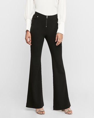 Express High Waisted Front Zip Flare Leg Pant