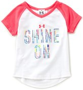 Under Armour Little Girls 2T-6X Shine On Short-Sleeve Tee