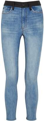 Alice + Olivia Alice & Olivia Jeans Good High Rise Leather-panelled Skinny Jeans