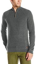 Ted Baker Men's Hardmun Funnel Neck Sweater with Ribbed Detail