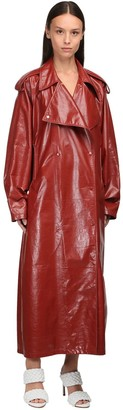Bottega Veneta Nappa Leather Trench Coat