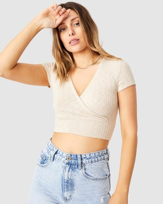 Cotton On Tonya V Crossover Short Sleeve Top