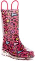 Western Chief Cutie Leopard LED Waterproof Boot (Toddler & Little Kid)