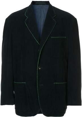 Comme des Garcons Pre-Owned contrast trim blazer