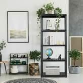 """Rebrilliant Susanna 73"""" H x 15"""" W Freestanding Storage Shelving Rebrilliant Size: 67"""" H x 28"""" W x 15"""" D"""