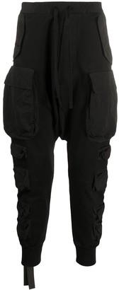 Unravel Project Pocket-Detail Drop-Crotch Trousers