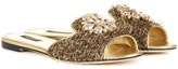 Dolce & Gabbana Exclusive To Mytheresa.com – Embellished Metallic Slippers