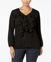 NY Collection Plus Size Ruffled Blouse