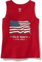 Old Navy 2017 Flag Tank for Toddler Girls