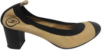 Chanel Camel Leather Ballet flats