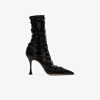 Liudmila black Drury Lane 95 lace-up leather boots