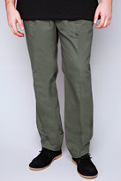 Yours Clothing Khaki Stretch Waist Chino Trousers With Pockets