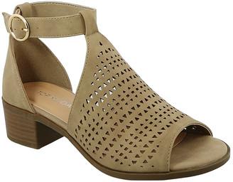 Top Moda Women's Sandals Khaki - Khaki Peep-Toe Favor Sandal - Women