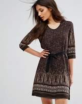 Brave Soul Petra Border Print Dress