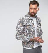 Liquor N Poker Floral Denim Jacket
