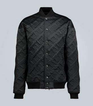 Balenciaga All-over logo quilted bomber jacket