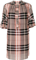 Burberry checked shift dress - women - Cotton - 8