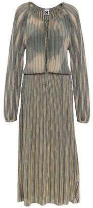 M Missoni Bow-detailed Metallic Crochet-knit Midi Dress