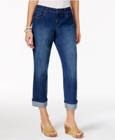 Style&Co. Style & Co Petite Curvy-Fit Riverside Wash Capri Jeans, Created for Macy's