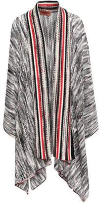 Missoni Asymmetric Marled Open-knit Wool Cardigan