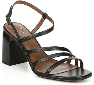 Franco Sarto Leather Strappy Block Heel Sandals- Qitara City