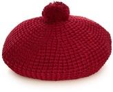 Gucci Pompom cotton-knit beret