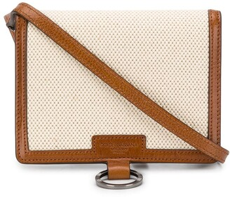 Dolce & Gabbana Contrast Trims Crossbody Bag