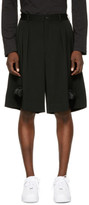 Comme des Garcons Black Silicone Train Shorts