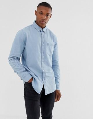 New Look regular fit denim shirt in blue wash