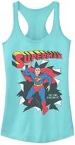 Licensed Character Juniors' DC Comics Superman Burst Through Wall Poster Tank