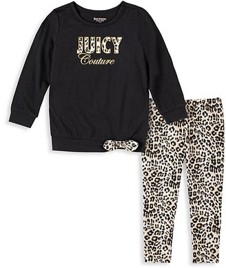 Juicy Couture Baby Girl's 2-Piece Sweater & Leopard-Print Leggings Set