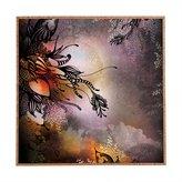 DENY Designs 12889-frwamd Iveta Abolina Purple Rain Framed Wall Art